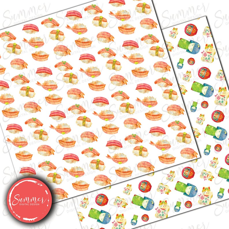 Sushi Watercolor Clip Art, Japan Cute Healthy Food Digital Elements, Clipart Bundle, Watercolor Food Clipart, Sushi Clipart Japanese Clipart Price: EUR 7.51 Original Price: EUR 8.63 In stock You save EUR 1.33 (15%) VAT Included
